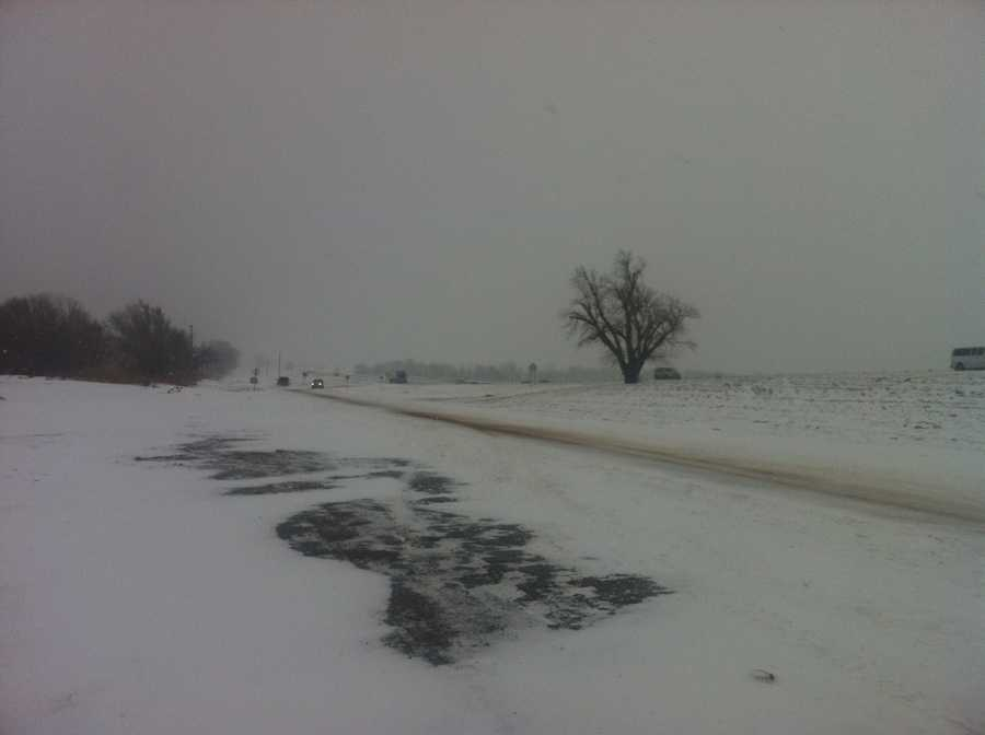 Another shot of a bit deeper snow in Hydro, Okla.