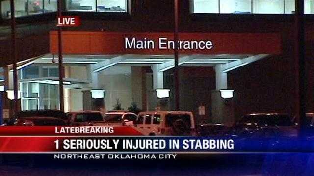 1 rushed to hospital after Northwest Oklahoma City stabbing