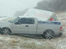 On I-44 east between Kelley and I-35 exit