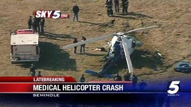 Medical helicopter crash injures 4 near Seminole