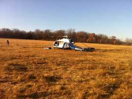 Authorities said the helicopter was headed to the Creek Nation Community Hospital in Okemah.