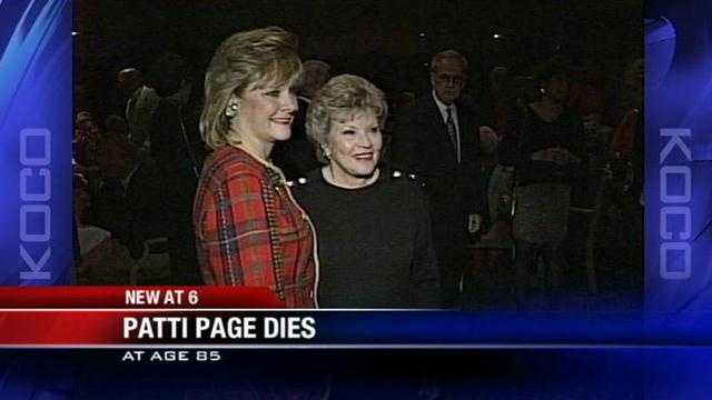 One of the best-selling artists of all time, Oklahoma native Patti Page died at the age of 85 on New Year's Day.