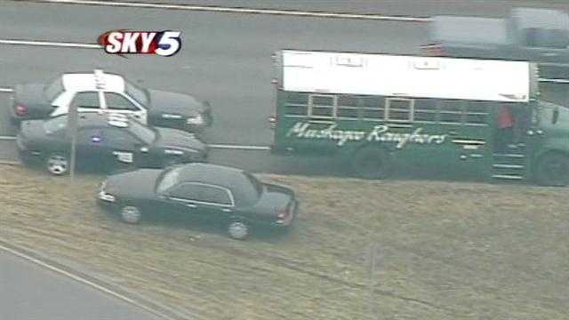 Muskogee school bus involved in crash in OKC