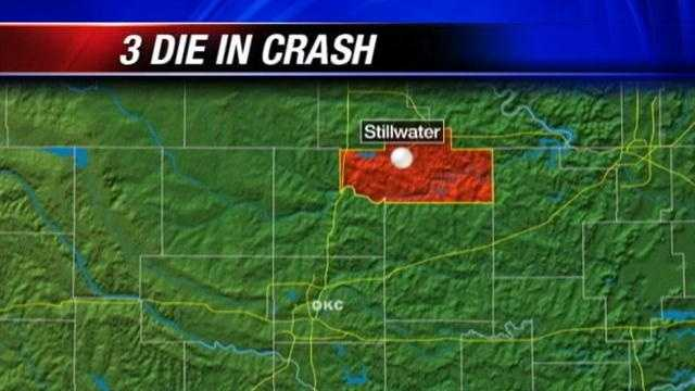 A head-on crash between a prison van and another vehicle kills two people between Stillwater and Cushing.
