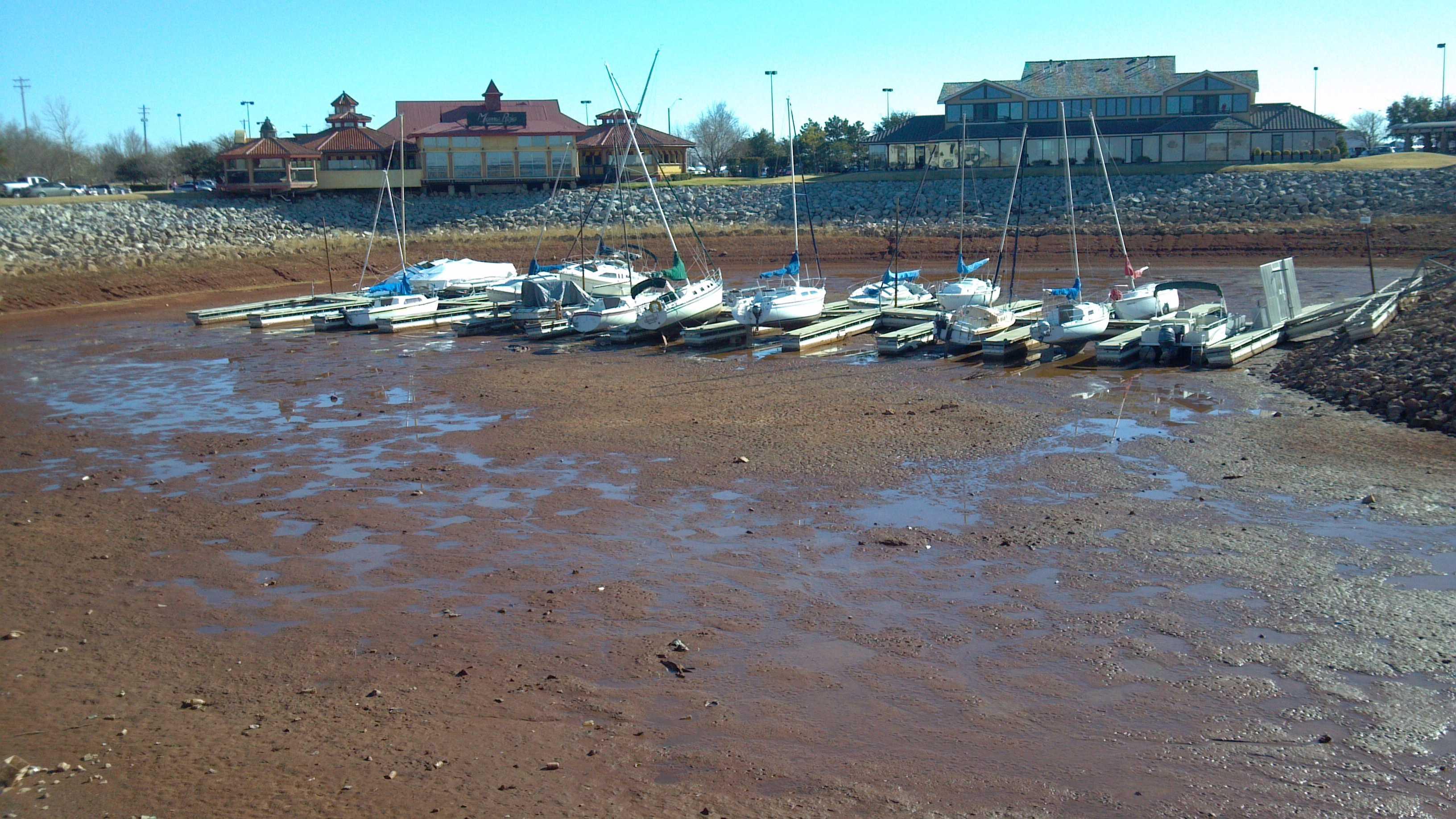 Lake Hefner dried up
