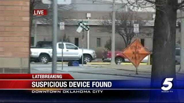 Suspicious bag found near downtown Oklahoma City
