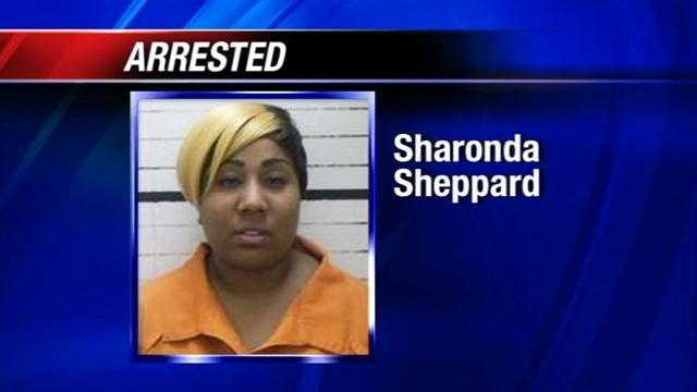 Fort Gibson police say Sharonda Sheppard told officers she left her three children in the car for 10 minutes, but surveillance showed it was 45 minutes.