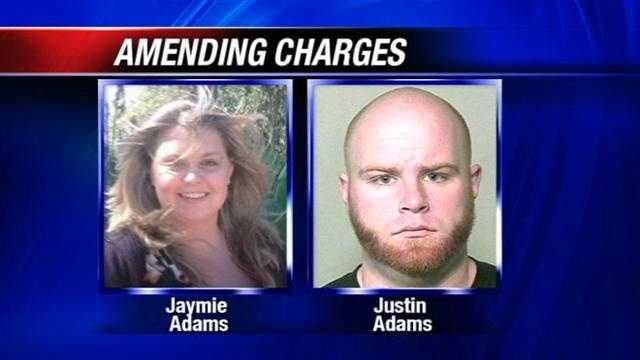 Prosecutors confirm that charges against Justin Adams, the man accused of killing his pregnant wife, Jaymie Adams, are likely to be amended.