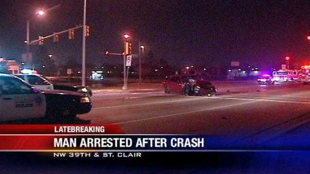 Man arrested on suspicion of DUI after crash