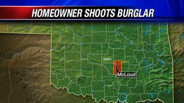 Deputies: McLoud homeowner shoots burglar