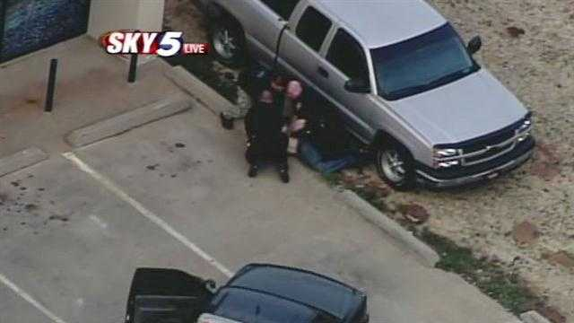 A police chase through parts of Midwest City and Del City ended at Sunnylane Road and Reno Avenue with two arrests.