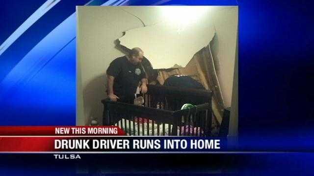 Drunken driver crashes into Tulsa home, police say