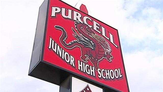 The incident happened at Purcell Junior High School. School Officials say it was an isolated incident.