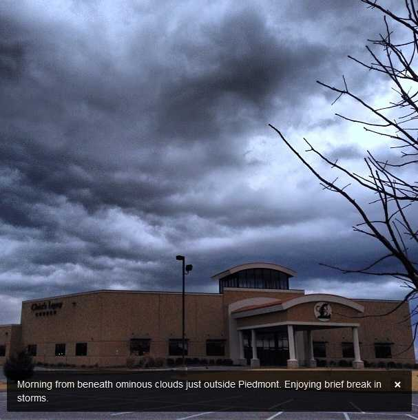 Tuesday's weather was Oklahoma's first taste of spring-like storms.