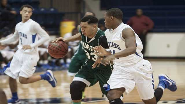 Payton Prince (33) was named Norman North's MVP in the Shawnee Shootout tournament. The junior was a big part of the Timberwolves second-place finish.