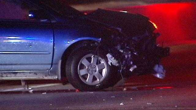The Broadway Extension was partially closed at I-44 overnight after an accident.