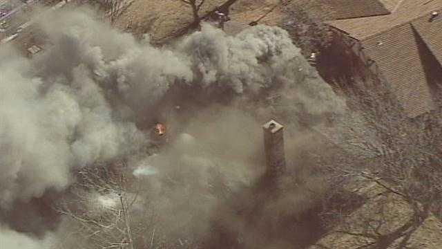 Firefighters are calling a house fire near Northwest Expressway and Rockwell Avenue in Oklahoma City suspicious.