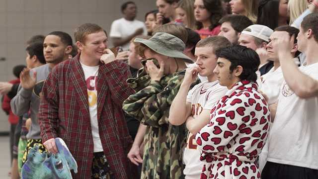 The student section at Putnam North couldn't help but be on edge as the game came down to the last shot.