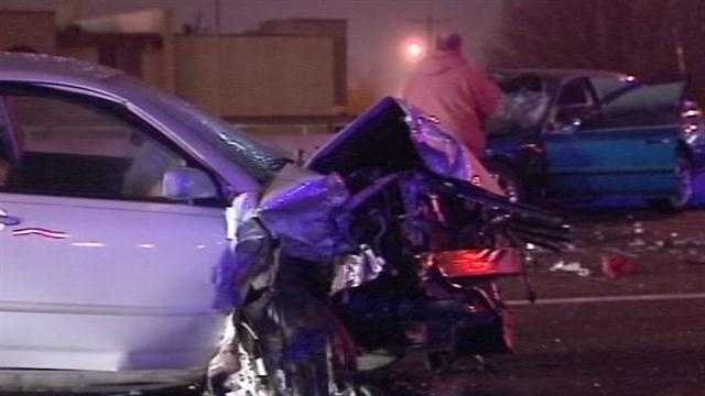 A woman driving the wrong way down I-240 crashed head-on into another car. at Western.Turns out, the car she hit was stolen.