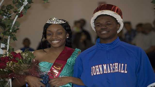 John Marshall 2013 Spring Homecoming Queen Timesha Shoals and King Trel Parker.
