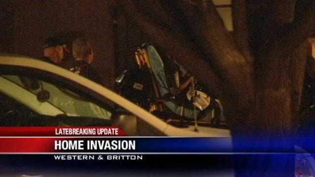 Woman hospitalized after home-invasion robbery
