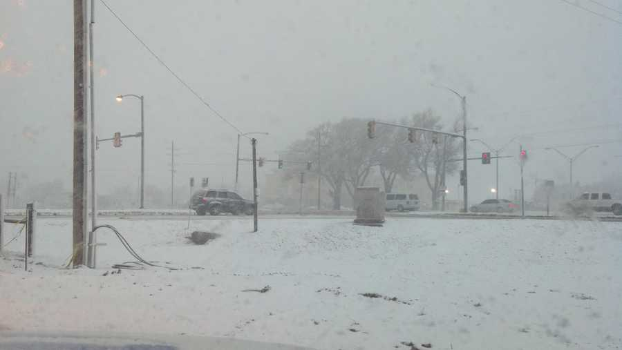 Forecasters called for 4 to 6 inches of snow in far western Oklahoma.