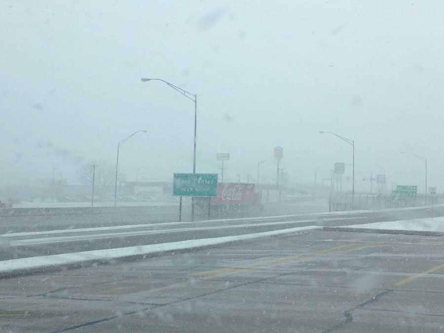 KOCO's Naveen Dhaliwal sends us this set of photos from I-40 and Sooner Road on Tuesday.