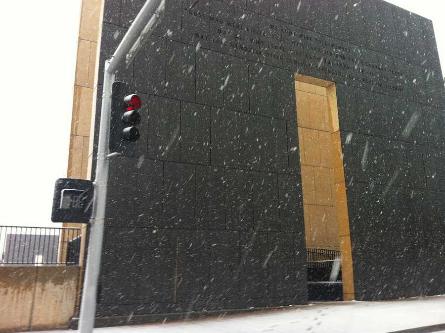 Dan Thomas snapped these weather pics Tuesday from downtown Oklahoma City.