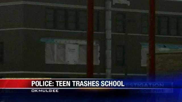 Teen trashes Okmulgee school, Police say