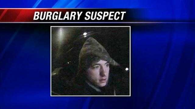 Woman hunts for burglary suspect