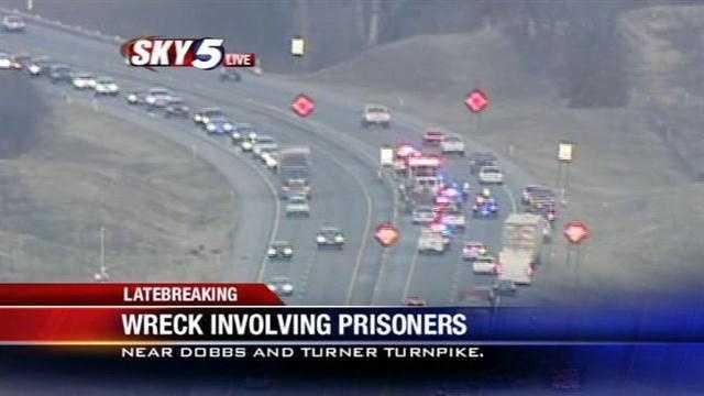 Prisoners injured in crash along Turner Turnpike