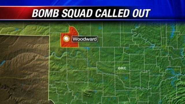 Right now, the Oklahoma Highway Patrol bomb squad is headed to Woodward. Police say they found an explosive device in the eastern part of the city.