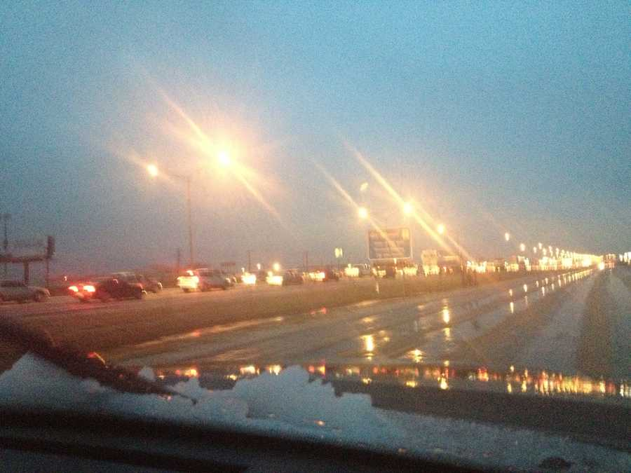 KOCO's Naveen Dhaliwal snapped these photos from Interstate 35 in the Moore-Norman area.