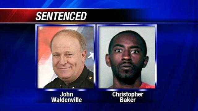 A man is sencencted in the shooting of off-duty deputy John Waldenville.  The second defendant will be sentenced in March.