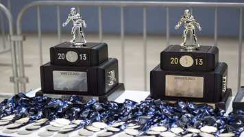 As the final round began, teams began to look at not only the medals, but the championship trophies that are given to the top two teams in each class.