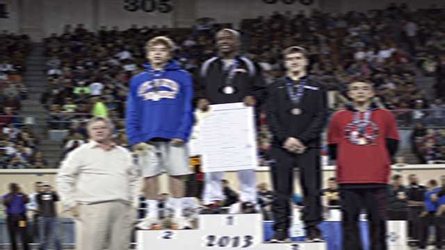 Champion: Keegan Moore, Putnam City. Second place: Joe Smith, Stillwater. Third place: Zach Edwards, Broken Arrow. Fourth place: Danny Maldanado, Lawton.