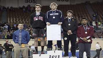 Champion: Joel Dixon, Edmond North. Second place: Chance Wenglewski, Union. Third place: Paden Ayers, Sand Springs. Fourth place: Teejay Aiono, Owasso.