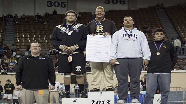 Champion: Carlos Taylor, Broken Arrow. Second Place: Carlos Freeman, Midwest City. Third place: Que Jackson, Jenks. Fourth place: Nick Bearshead, Sand Springs.