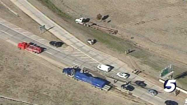 Hazmat crews were called to a fuel leak along southbound lanes of I-44 on Thursday.