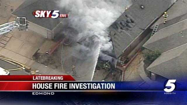 Firefighters battled a house fire in Edmond near 2nd Street and I-35 on Friday afternoon.