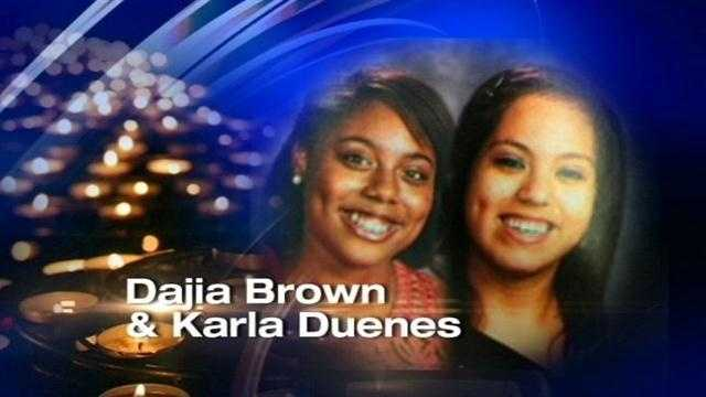 DaJia Brown and Karla Duenes were killed in an accident near Stillwater after their broken-down van was hit by a vehicle.
