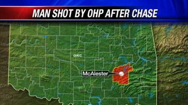 A shootout between an OHP trooper and suspect is under investigation. This happened near McAlester. Investigators say it happened after a chase. Troopers say the suspect pointed a rifle at them. The suspect ended up shot twice.