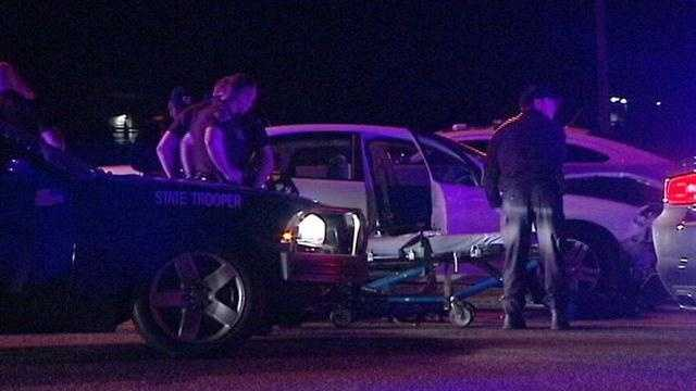 Oklahoma High Patrol troopers arrested a man after high-speed chase that started in northwest Oklahoma City. The chase reached speeds up to 110 mph as it wound into Midwest City through Del City and into Moore, police said.