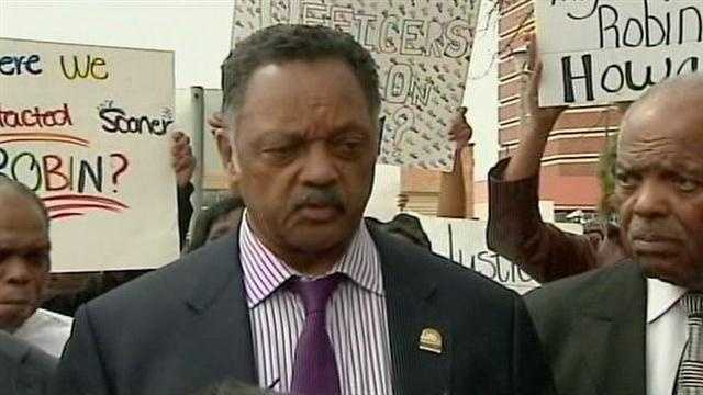 The Rev. Jesse Jackson is in Oklahoma City on Tuesday to help the Robin Howard family. Howard died in police custody in June 2012. The Medical Examiner ruled Howard's death a homicide, but prosecutors never filed charges.