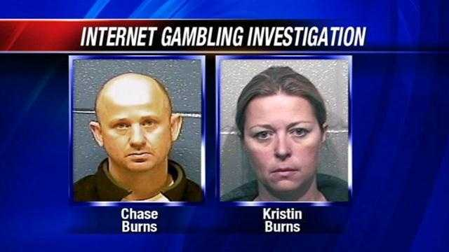 Authorities have begun seizing property from an Oklahoma couple under investigation for an internet gambling ring.