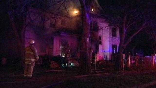Two people barely escaped after a home in Oklahoma City caught fire.  A man who said he lives in the home said he returned from the store and noticed smoke.  He and another person got out of the 4,500 square foot home just before it burst into flames.