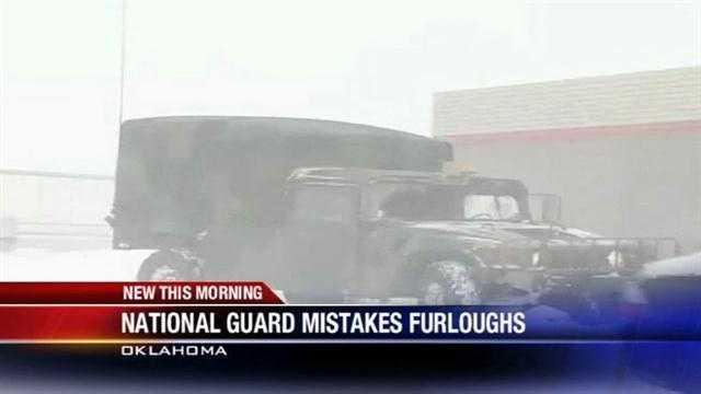 National guard issues mistaken furloughs
