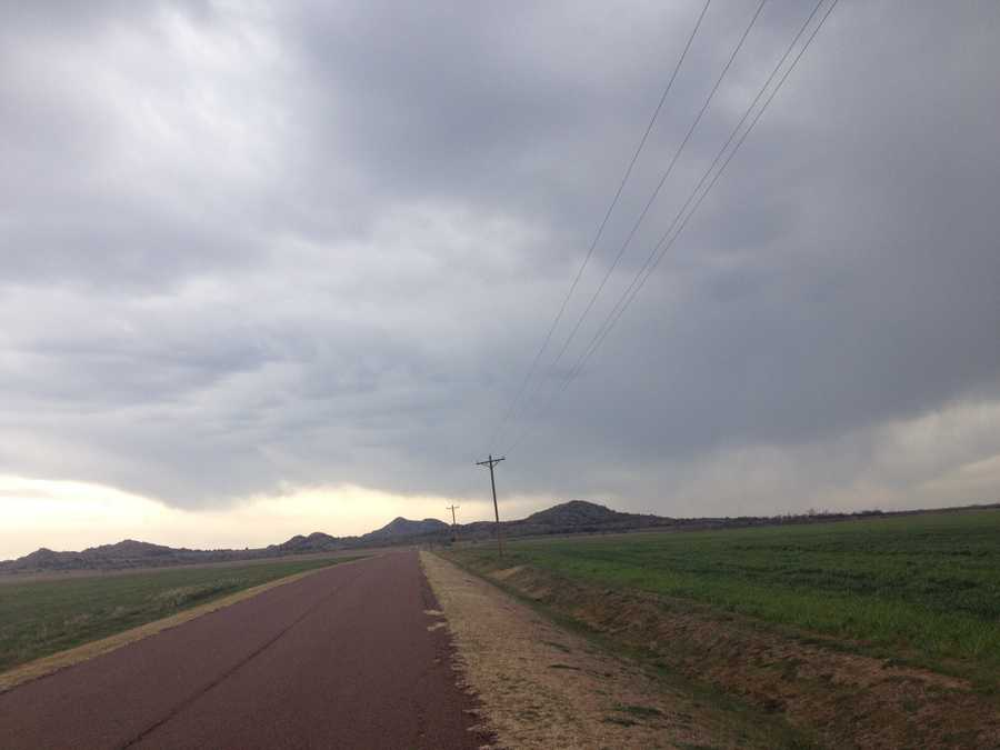 Meanwhile, KOCO's Naveen Dhaliwal as south and west of the metro, snapping this photo from the Kiowa County town of Roosevelt.