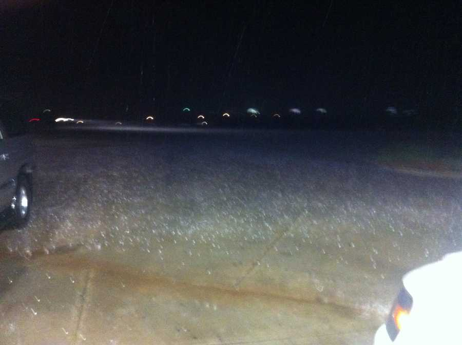KOCO's Kim Passoth snapped these photos from Logan County.