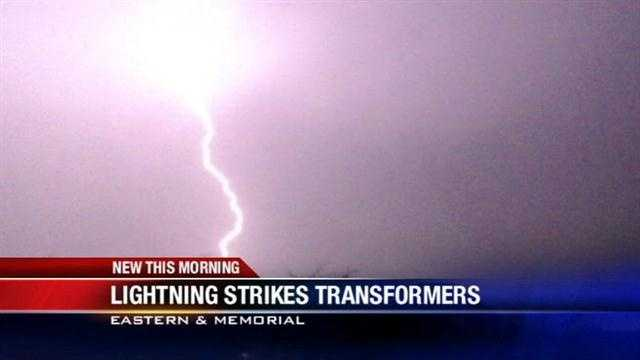Lightning causes brief power outage in northeast OKC